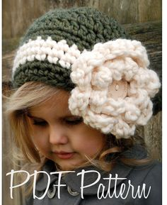 Crochet PATTERN-The Dailynn Slouchy pattern includes sizes