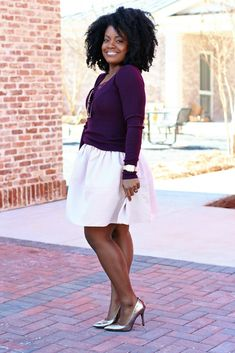 Pink Full Skirt Sweater Outfit The Serena Saga 5