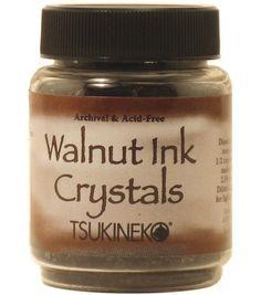 Tsukineko 2 oz. Walnut Ink Crystals-1PK