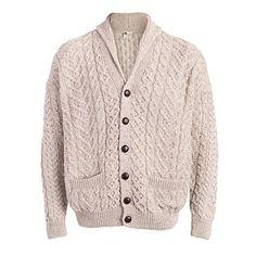 Buy Boyne Valley Knitwear Patchwork Shawl Collar Merino Wool Cardigan  Sweater online ed0ed30d4