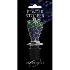 Oenophilia Painted Grapes Pewter Stopper - 071176 by Oenophilia. $4.97. Not designed to preserve wine, only to keep it closed during serving. Painted Pewter Wine Bottle Stopper with Grape Cluster Design. Painted Pewter Wine Bottle Stopper with Grape Cluster Design  Not designed to preserve wine, only to keep it closed during serving. Save 65%!
