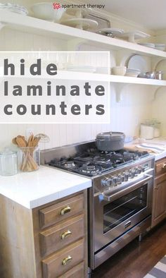 Easy ways to update, refinish, remodel, and DIY ugly or dated laminate countertops doesn't have to cost a lot of money, blow the budget or be hard to do! Here are ways to fix that kitchen eyesore.