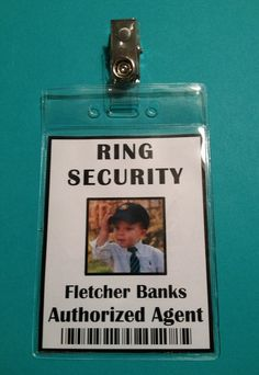 Ring Security Badge Ring Bearer Ring Security by , via Etsy.this with black aviators, whita shirt, bow tie and black pants. Ring Bearer Security, Security Badge, Before Wedding, Our Wedding, Dream Wedding, Wedding Dreams, Wedding Ring, Fall Wedding, Wedding Gifts