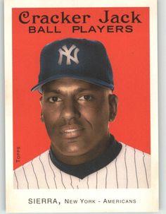 2004 Topps Cracker Jack Ruben Sierra - New York Yankees (Baseball Cards) New York Yankees Baseball, Cracker Jacks, Sports Fan Shop, Mlb, Image Link, Baseball Cards, Amazon, American, News