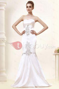 Fantastic Sweetheart Trumpet/Mermaid Sweep Train Beaded Angerlika's Wedding Dress