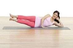Pilates Side Kick Exercises (Thigh and Hip Toning): Side Kick Series Intro and Set Up Thigh Exercises, Mat Exercises, Pilates Workout, Pilates Mat, Workouts, Irregular Menstrual Cycle, Pilates Instructor, Get Toned, Flat Belly Diet