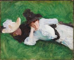 John Singer Sargent (American, 1856–1925). Two Girls on a Lawn, ca. 1889. The Metropolitan Museum of Art, New York. Gift of Mrs. Francis Ormond, 1950 (50.130.20)