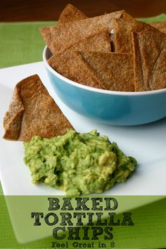 Cut back on calories and unhealthy fats with these homemade baked tortilla chips! They are the perfect healthy solution to salty, crunchy cravings!