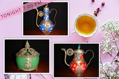 Tea time ☕ these antique oriental teapots and containers are online NOW and are going under the hammer tonight at pm Under The Hammer, Teapots, Tea Time, Oriental, Auction, Container, Antiques, Antiquities, Antique