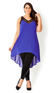 bdf93c861b1 CITY CHIC - HI LO LACE TRIM TUNIC - Women s plus size fashion Curvy Fashion
