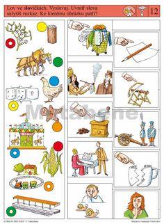 LOGICO PICCOLO   Sluchové vnímání - Slovolov   Didaktické pomůcky a hračky - AMOSEK Multiplication, Brain, Puzzle, Teaching, Special Education, The Brain, Puzzles, Education, Puzzle Games