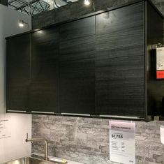 Ikea Tingsryd cabinets Ikea Kitchen, Kitchen Living, Kitchen Ideas, Kitchen Design, Basement, Cabinets, Condo, Bar, Kitchens