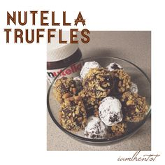 Homemade Nutella Truffles