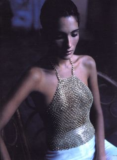 """lelaid: """" Astrid Muñoz by Thierry Le Goues for Elle Germany, May 1997 """""""