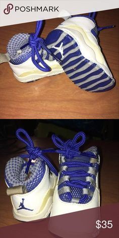4126edf98ba4d2 Shop Kids  Jordan White Blue size Sneakers at a discounted price at  Poshmark.
