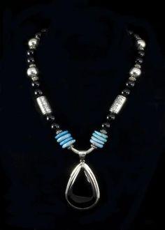 Black Onyx Turquoise Necklace