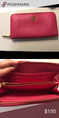 Tory Burch large wallet Pink, large wallet in excellent condition, Authentic Tory Burch Other