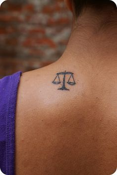 simple scales of justice tattoo - Google Search