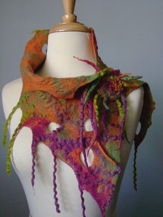 Hand felted wool neckwarmer Pin FREE YOUR MIND / OOAK | Flickr - Photo Sharing!