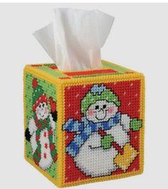 Snowbabies Tissue Box Cover 1/3