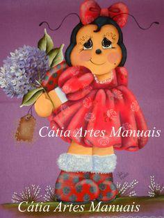 Passo a passo no meu site http://www.catiaartesmanuais.com/ aulas de pintura country