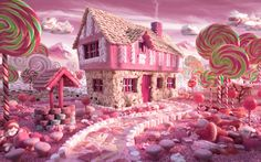 Super sweet and deliciously pink, this candy cottage made out of food by Chris Warner is any little girl's fantasy.