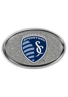 Sporting Kansas City Logo Glitter Domed Auto Emblem  http://www.rallyhouse.com/sporting-kansas-city-silver-domed-glitter-oval-car-accessory-car-emblem-8032450?utm_source=pinterest&utm_medium=social&utm_campaign=Pinterest-SportingKC  $14.99