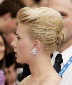 Scarlett Johansson Classic Bun - Scarlett Johansson Updos - StyleBistro
