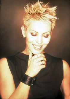 Joan Jett is wearing Venus by Maria Tash. Find your look. Undercut Pixie, Joan Jett, Pixie Cut, Messy Pixie, Venus By Maria Tash, Shave My Head, Pixie Hairstyles, Female Singers, Hair
