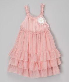 Another great find on #zulily! Rose Rosette Tiered Dress - Toddler & Girls #zulilyfinds