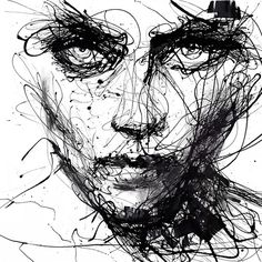 In Trouble, She Will – Agnes Cecile - 7 Black and White Art Prints to Add to Your Home . Agnes Cecile, Art Du Croquis, Illustration Art Nouveau, Fantasy Illustration, Scribble Art, Drip Painting, Arte Pop, Sketch Art, Face Sketch