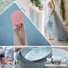 Light blue, santorini, cat, pool, trends, no words.