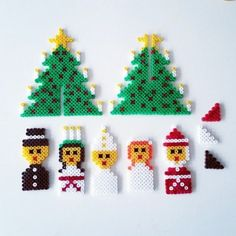 Hama Beads Patterns, Beading Patterns, Christmas Activities For Kids, Christmas Time, Christmas Crafts, Christmas Decorations, Christmas Ornaments, Handmade Crafts, Diy And Crafts