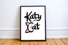 Hey, I found this really awesome Etsy listing at https://www.etsy.com/listing/477452113/katy-perry-poster-katy-cat-katy-perry