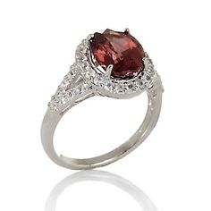 Rarities: Fine Jewelry with Carol Brodie 4.09ct Pink Zircon and White Sapphire Sterling Silver Ring at HSN.com.