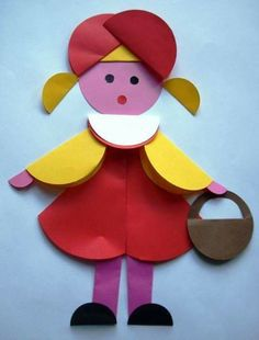 Folded paper doll