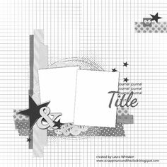 Hello Everyone! I am back with another layout for the challenge at Stuck? They have such awesome sketches and two challenges per mo. Scrapbook Layout Sketches, 12x12 Scrapbook, Scrapbook Templates, Scrapbook Designs, Scrapbook Paper Crafts, Scrapbooking Layouts, Picture Scrapbook, Paper Crafting, Digital Scrapbooking