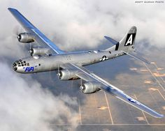 B-29 Superfortress. This plane appeared at a local airshow. I was able to photograph and take video of it in flight. It did some fly bys alongside the Avro Lancaster. Most amazing sight and sound ever!!