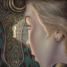 """Прозрение"" - Холст, асло Даниэль Galieote - Лос-Анджелес, Калифорния художник"
