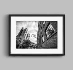 Black and white landscape photograph of Manchester / Beetham Tower / skyscraper / wall art / fine art print / urban / Photo / home decor