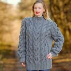 GREY hand knitted wool sweater by SuperTanya®. Here you will findhand knitted mohair turtleneck ,crew neck ,V neck and othersweaters. Mohair Sweater, Knit Sweater Dress, Wool Sweaters, Autumn Jumpers, Yarn Sizes, Cable Knit, Hand Knitting, Knitwear, Pullover