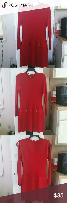Darling Red Sweater Dress Bought from Dillard's I.N. San Francisco  Dresses Midi