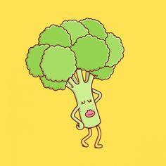 Brosmind #illustration for Beefsteak Veggies. #design #brosmind #veggies #broccoli #art