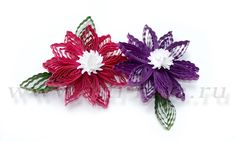 Crimped flowers (quilling)