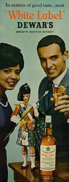 "1963 Liquor Ad, ""White Label"" Dewar's Blended Scotch Whisky | Flickr - Photo Sharing!"