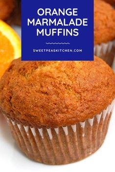 Orange Bundt Cake, Savoury Biscuits, Simple Muffin Recipe, Muffin Tins, Marmalade, Muffin Recipes, Scones, Warm Weather, A Food