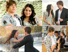 Troy Bolton & Gabriella Montez - High School Musical High School Musical Quotes, Hight School Musical, Zac Efron Vanessa Hudgens, Hig School, Troy And Gabriella, Zac Efron And Vanessa, Troy Bolton, Emperors New Groove, Old Disney