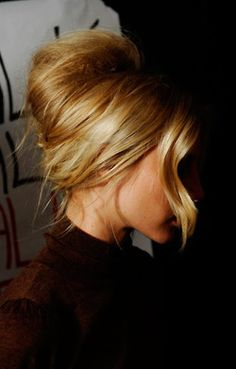 Bardot-esque hair. love.