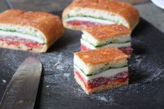 The Cilantropist: A Presidio Picnic, with Italian Pressed Sandwiches Picnic Food List, Healthy Picnic Foods, Picnic Snacks, Picnic Dinner, Picnic Ideas, Dinner Parties, Vegetarian Picnic, Picnic Time, Gourmet