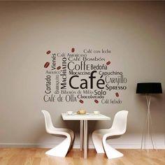 vinilo decorativo mural cocina o comedor coffee! 60x100cm. www ...